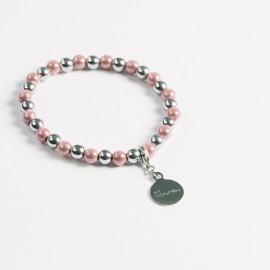Armband – rosa/hämatit