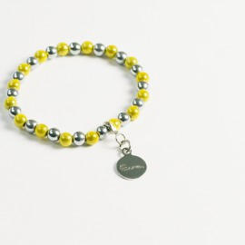 Armband – gelb/hämatit