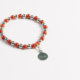 Armband – orange/hämatit