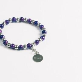 Armband – lila/hämatit