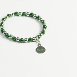 Armband – grün/hämatit
