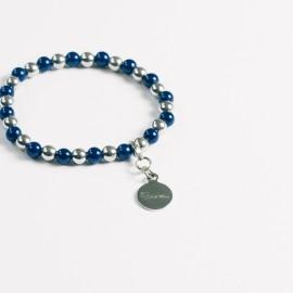 Armband – blau/hämatit