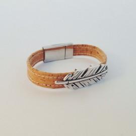 Korkarmband – Feather