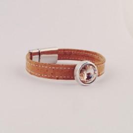 "Korkarmband – Swarovski ""Vintage Rose"""